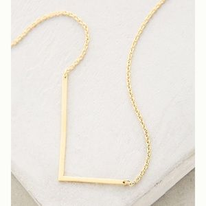 NWT Anthropologie L monogram necklace